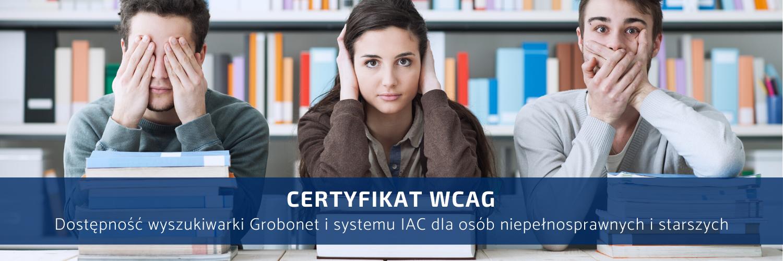 Certyfikat WCAG Grobonet