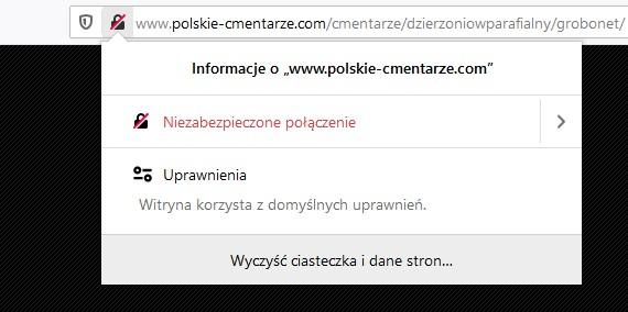 strona niezabezpieczona certyfikatem ssl